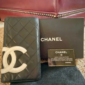 Chanel Classic Lamb Skin Quilted Zip Wallet